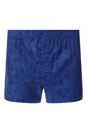 Мужские хлопковые боксеры DEREK ROSE темно-синего цвета, арт. 6050-PARI015 | Фото 1