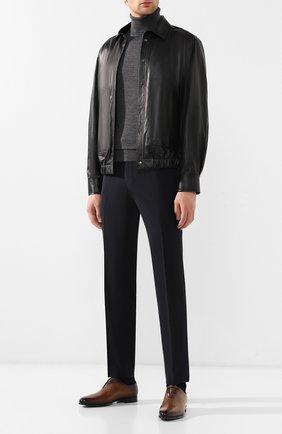 Мужские кожаные оксфорды  BERLUTI светло-коричневого цвета, арт. S4505-001 | Фото 2