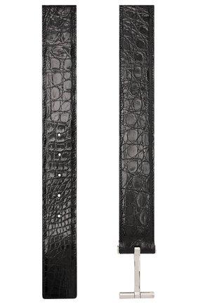Мужской ремень из кожи каймана TOM FORD черного цвета, арт. TB154P-A19/CYAC | Фото 2