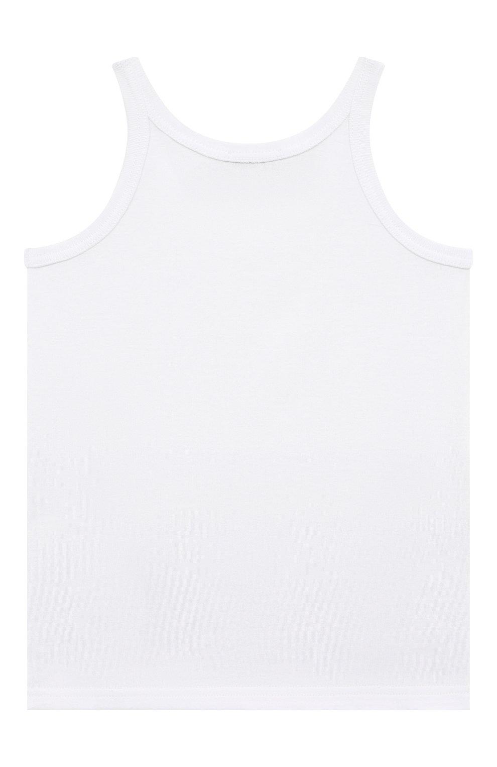 Детский комплект из двух хлопковых маек DOLCE & GABBANA белого цвета, арт. L4J702/G70CU | Фото 3