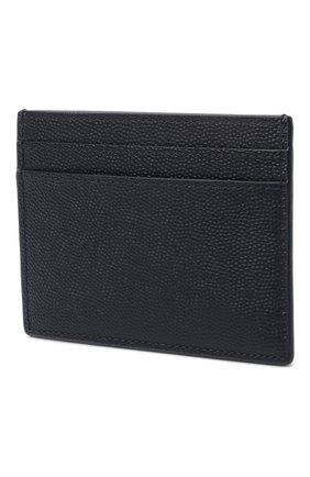 Мужской кожаный футляр для кредитных карт SAINT LAURENT темно-синего цвета, арт. 375946/BTY0N | Фото 2