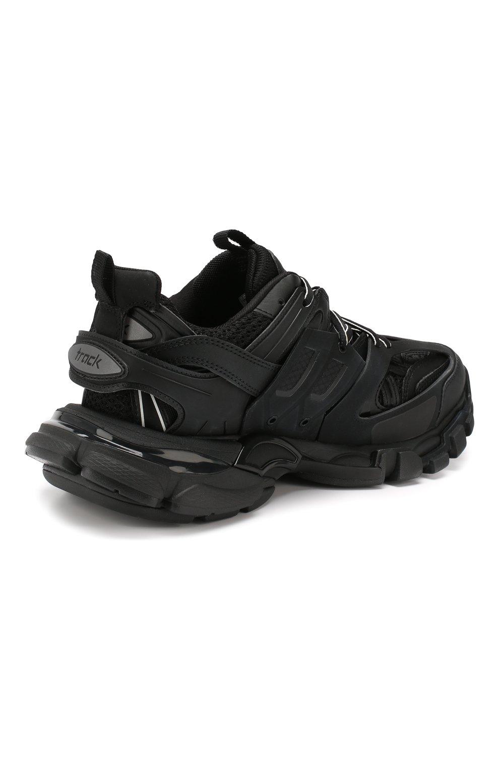 Текстильные кроссовки Track Balenciaga черные | Фото №4