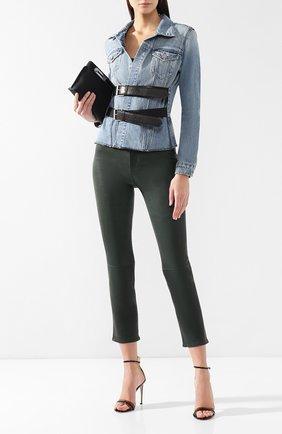 Женские кожаные брюки RAG&BONE зеленого цвета, арт. W2569L034GRN | Фото 2