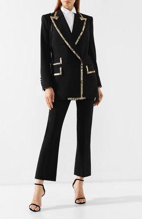 Жакет из смеси шерсти и шелка Dolce & Gabbana черный | Фото №2