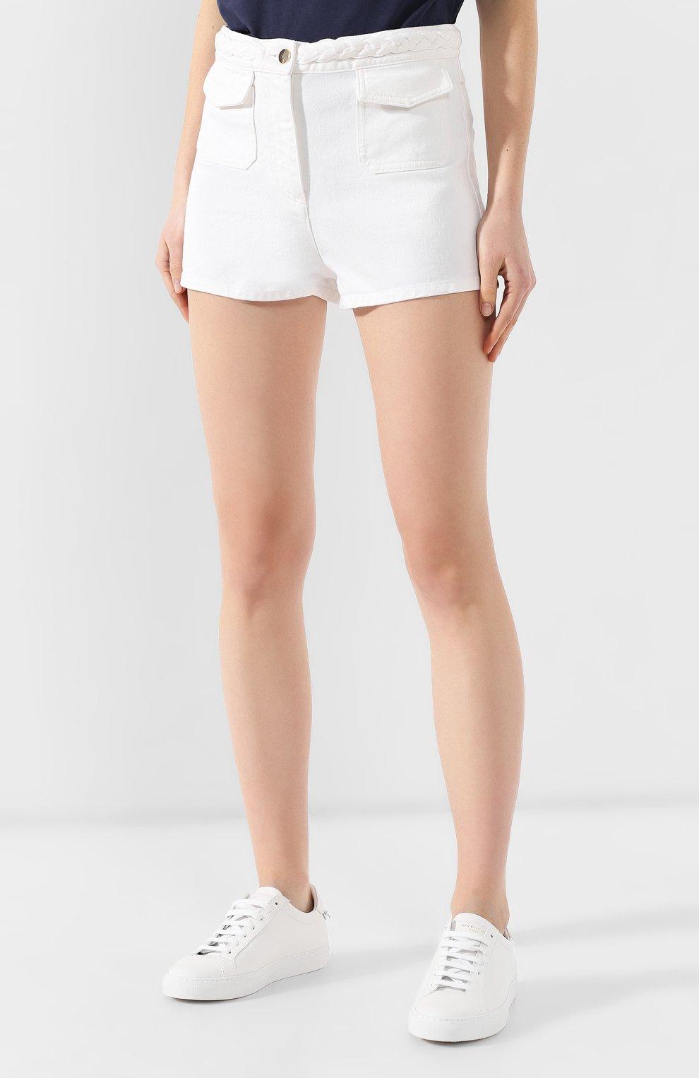 Джинсовые шорты Valentino белые | Фото №3