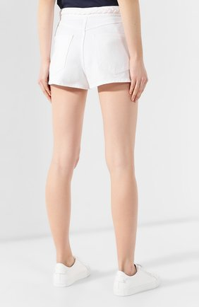 Джинсовые шорты Valentino белые | Фото №4