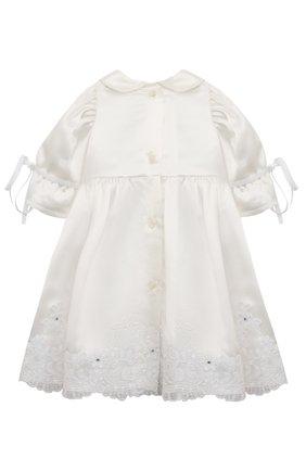 Детского комплект из семи изделий кружевной premium CHEPE белого цвета, арт. 351388 | Фото 8 (Материал внешний: Хлопок; Статус проверки: Проверена категория; Ростовка одежда: 3 мес | 62 см, 6 мес | 68 см)