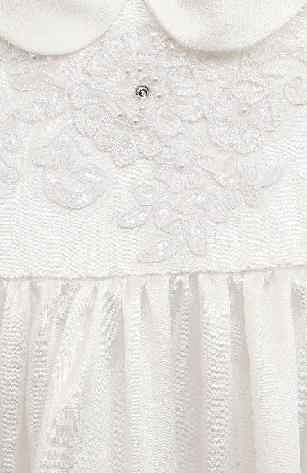 Детского комплект из семи изделий кружевной premium CHEPE белого цвета, арт. 351388 | Фото 9 (Материал внешний: Хлопок; Статус проверки: Проверена категория; Ростовка одежда: 3 мес | 62 см, 6 мес | 68 см)