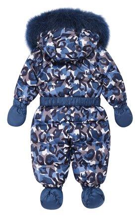 Детский пуховый комбинезон геометрия CHEPE темно-синего цвета, арт. 391788 | Фото 2