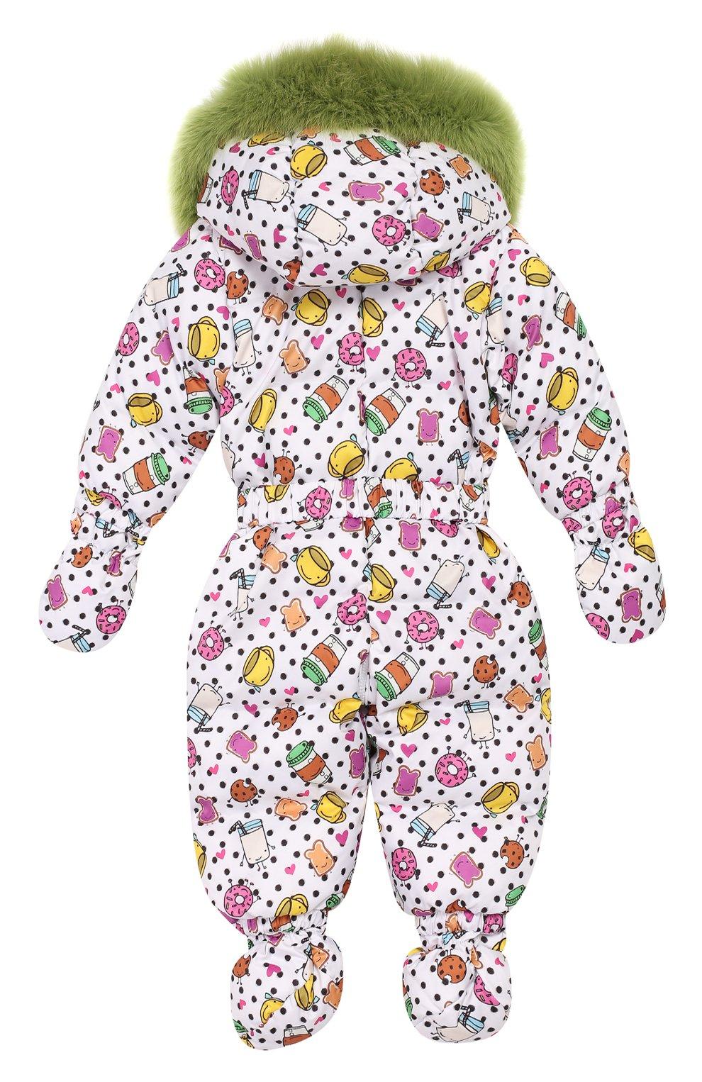 Детский пуховый комбинезон CHEPE белого цвета, арт. 391804 | Фото 2