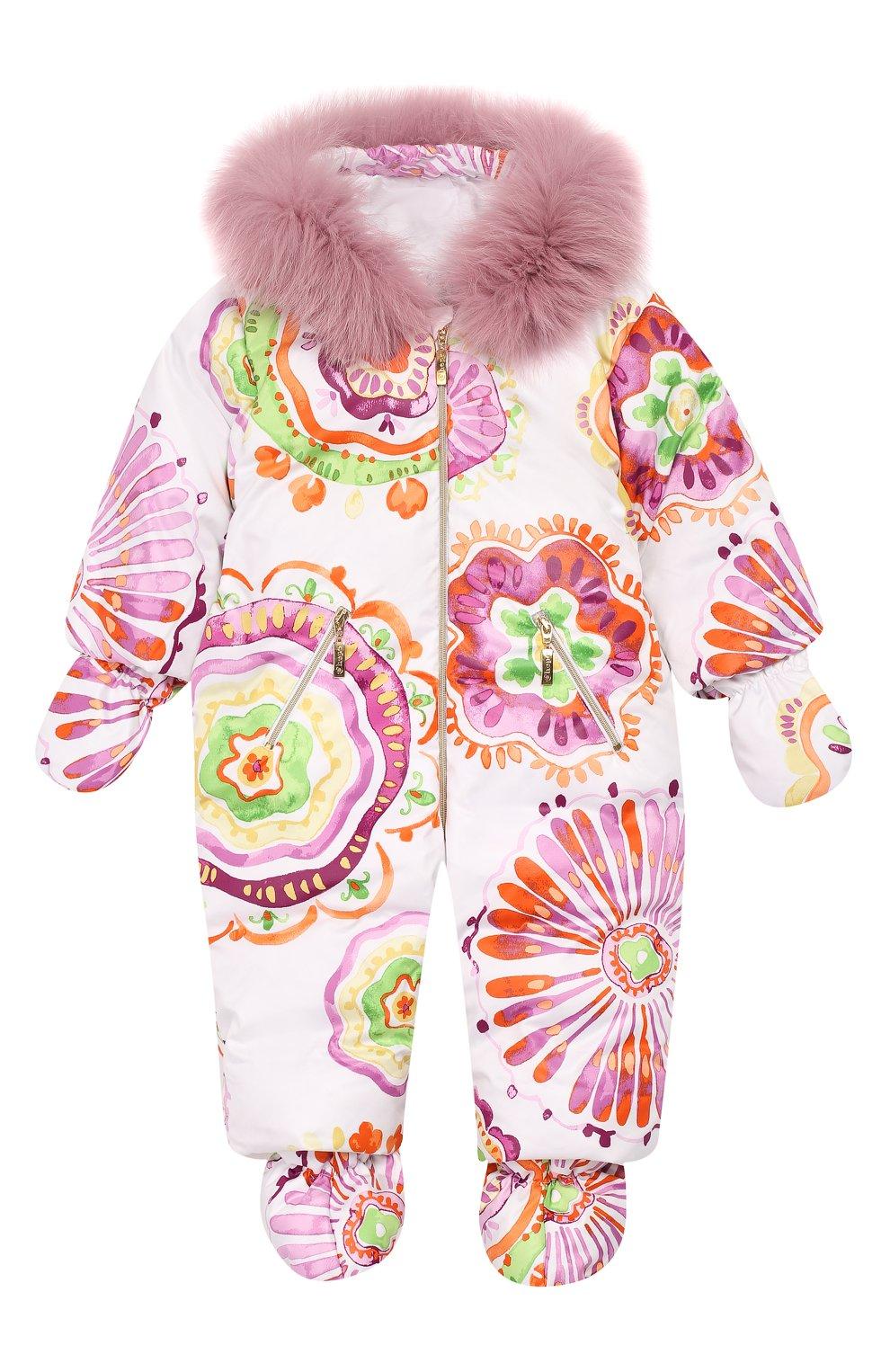 Детский пуховый комбинезон CHEPE лилового цвета, арт. 391461 | Фото 1