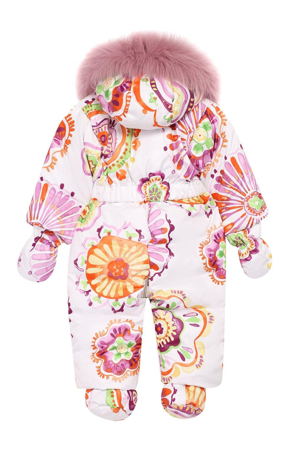 Детский пуховый комбинезон CHEPE лилового цвета, арт. 391461 | Фото 2