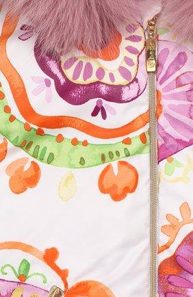 Детский пуховый комбинезон CHEPE лилового цвета, арт. 391461 | Фото 3