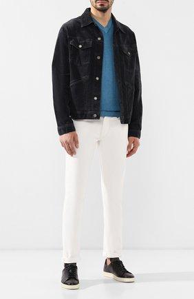 Мужские хлопковые брюки  RALPH LAUREN белого цвета, арт. 790678678 | Фото 2