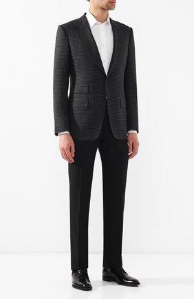 Мужской шерстяные брюки CORNELIANI черного цвета, арт. 835263-9118150/02 | Фото 2