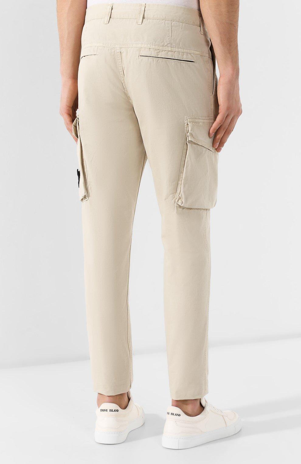 fc6b12ea5dd Мужские бежевые хлопковые брюки карго STONE ISLAND — купить за 18250 ...