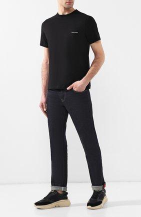 Мужская хлопковая футболка BALENCIAGA черного цвета, арт. 556151/TYK28 | Фото 2