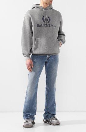 Мужские текстильные кроссовки track BALENCIAGA серого цвета, арт. 542023/W1GB7 | Фото 2