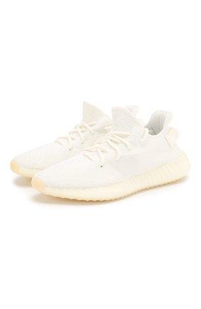 Текстильные кроссовки Yeezy Boost 350 V2 Triple White   Фото №1
