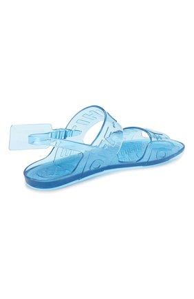Резиновые сандалии Zip Tie Off-White синие   Фото №5