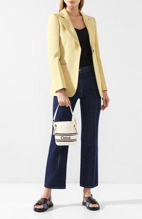 Женская сумка roy bucket mini CHLOÉ белого цвета, арт. CHC19SS129A88 | Фото 2