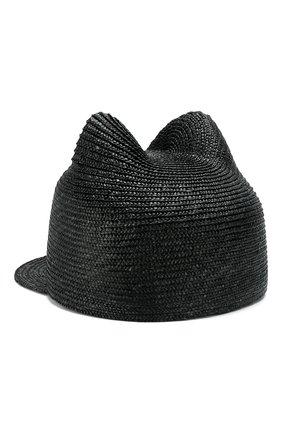 Женская соломенная кепка jamie MAISON MICHEL черного цвета, арт. 1027040001/JAMIE | Фото 2