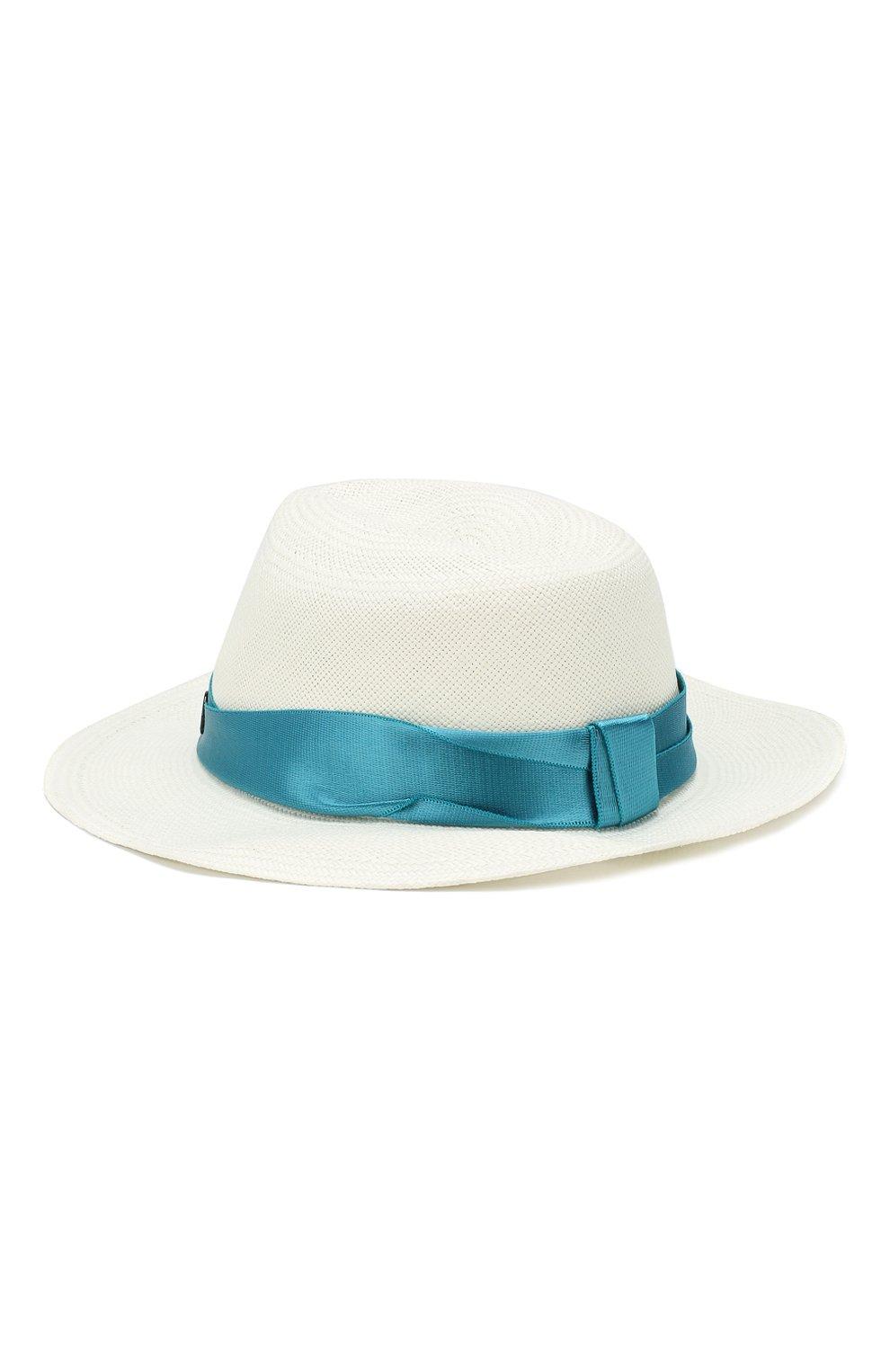 Соломенная шляпа Derek Maison Michel белого цвета | Фото №2