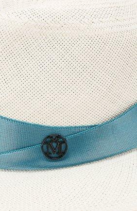 Соломенная шляпа Derek Maison Michel белого цвета | Фото №3