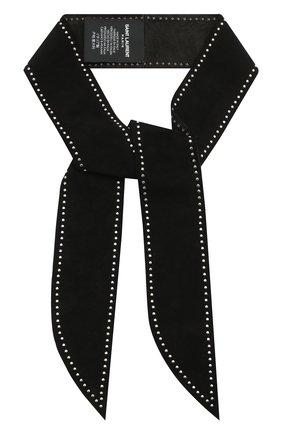 Замшевый шарф-бандо | Фото №1