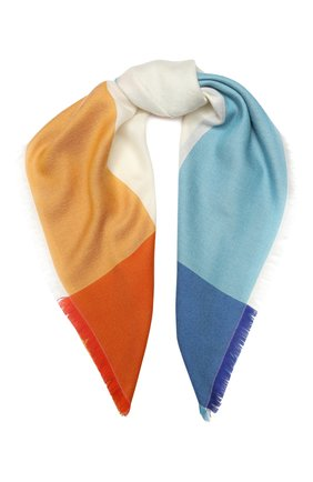 Женский платок alba из смеси кашемира и шелка LORO PIANA разноцветного цвета, арт. FAI0394 | Фото 1