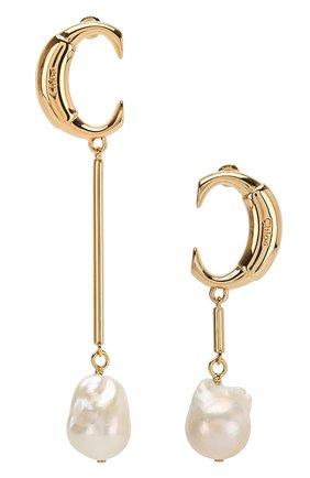 Женские серьги darcey CHLOÉ золотого цвета, арт. CHC19SFE73CPN | Фото 1 (Статус проверки: Проверена категория; Материал: Металл)