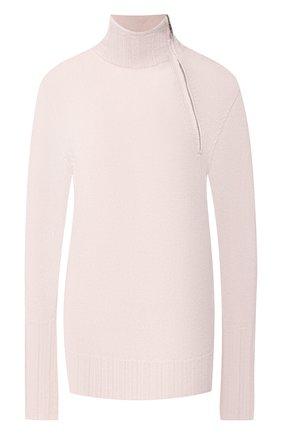 Женский кашемировый пуловер GIORGIO ARMANI светло-розового цвета, арт. 3GAM02/AM11Z | Фото 1 (Длина (для топов): Стандартные; Рукава: Длинные; Материал внешний: Шерсть, Кашемир; Статус проверки: Проверено, Проверена категория; Женское Кросс-КТ: Пуловер-одежда)