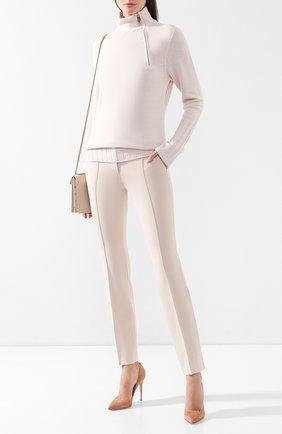 Женский кашемировый пуловер GIORGIO ARMANI светло-розового цвета, арт. 3GAM02/AM11Z | Фото 2 (Длина (для топов): Стандартные; Рукава: Длинные; Материал внешний: Шерсть, Кашемир; Статус проверки: Проверено, Проверена категория; Женское Кросс-КТ: Пуловер-одежда)