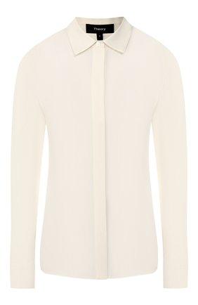 Женская шелковая блузка THEORY кремвого цвета, арт. I1002506 | Фото 1