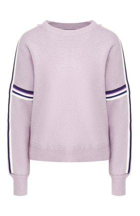 Пуловер с контрастными полосками | Фото №1