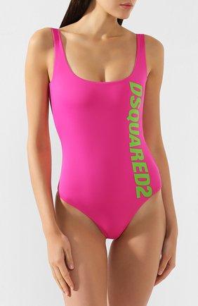 Женский слитный купальник DSQUARED2 фуксия цвета, арт. D6BG12170 | Фото 2