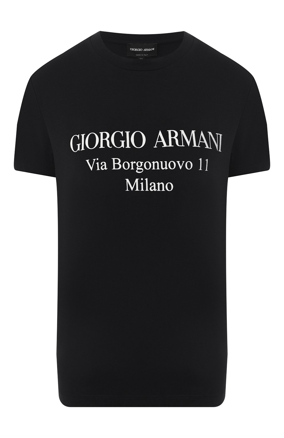 Футболка из вискозы Giorgio Armani черная | Фото №1