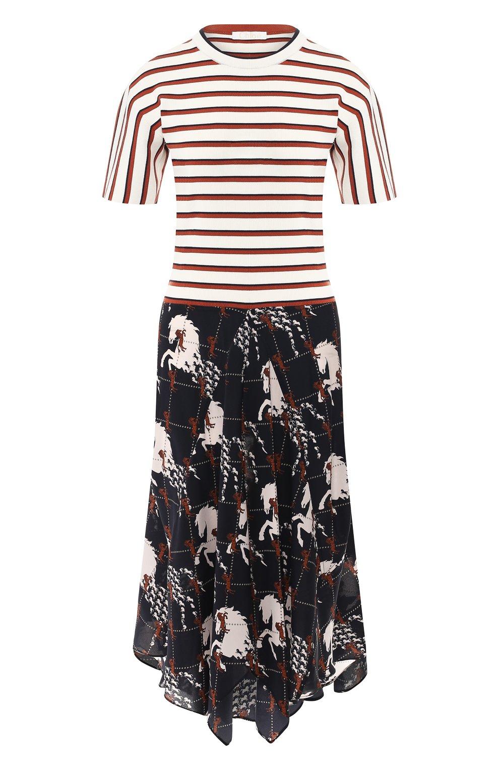 Платье-миди Chloé разноцветное | Фото №1
