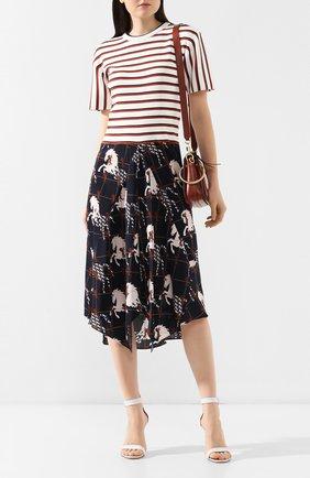 Платье-миди Chloé разноцветное | Фото №2
