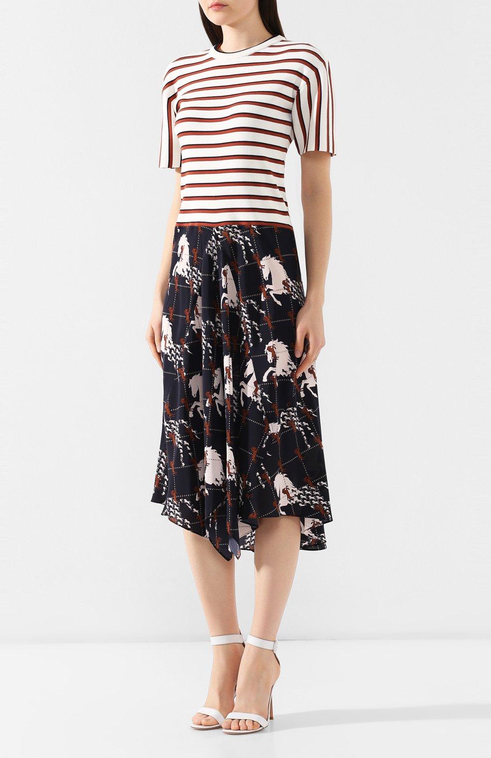 Платье-миди Chloé разноцветное | Фото №3