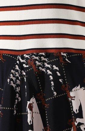 Платье-миди Chloé разноцветное | Фото №5