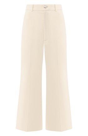 Укороченные брюки с лампасами | Фото №1