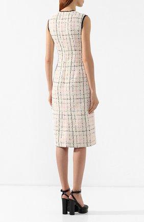 Буклированное платье Gucci кремовое | Фото №4