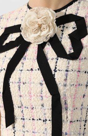 Буклированное платье Gucci кремовое | Фото №5