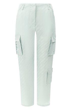 Женские брюки с накладными карманами OFF-WHITE зеленого цвета, арт. 0WCF004R19C860574100 | Фото 1