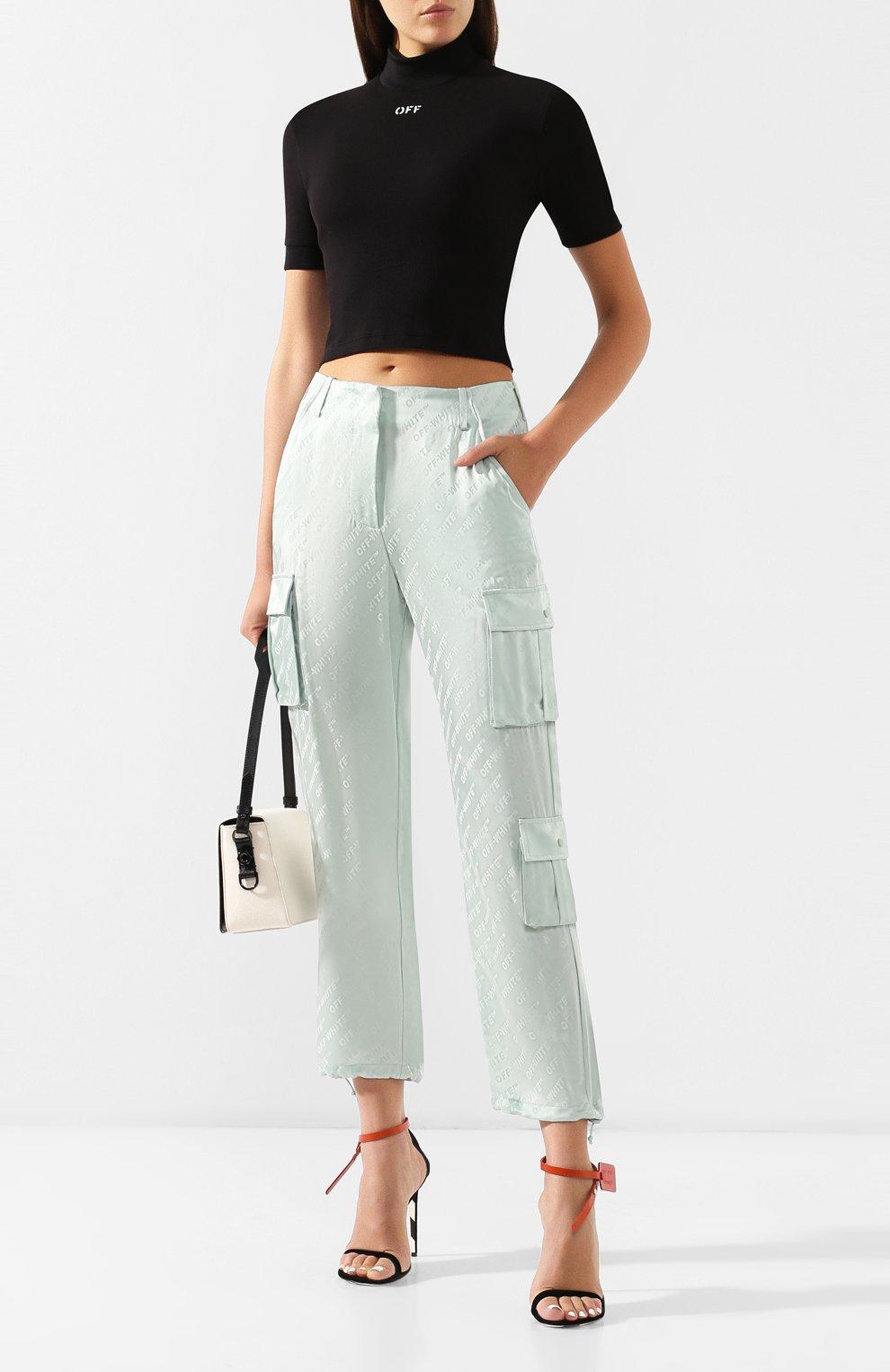 Женские брюки с накладными карманами OFF-WHITE зеленого цвета, арт. 0WCF004R19C860574100 | Фото 2