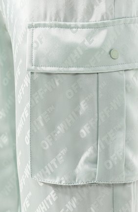 Женские брюки с накладными карманами OFF-WHITE зеленого цвета, арт. 0WCF004R19C860574100 | Фото 5