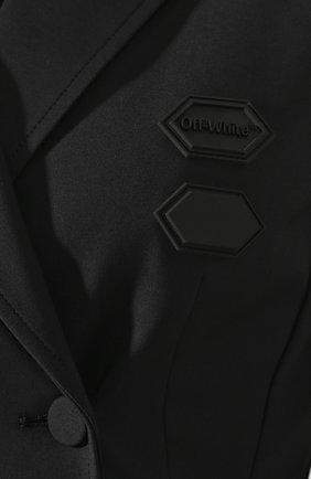 Двубортный жакет Off-White черный | Фото №5