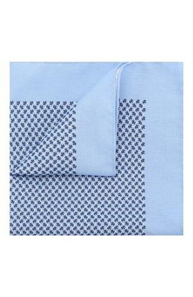 Мужской шелковый платок BOSS голубого цвета, арт. 50406620 | Фото 1