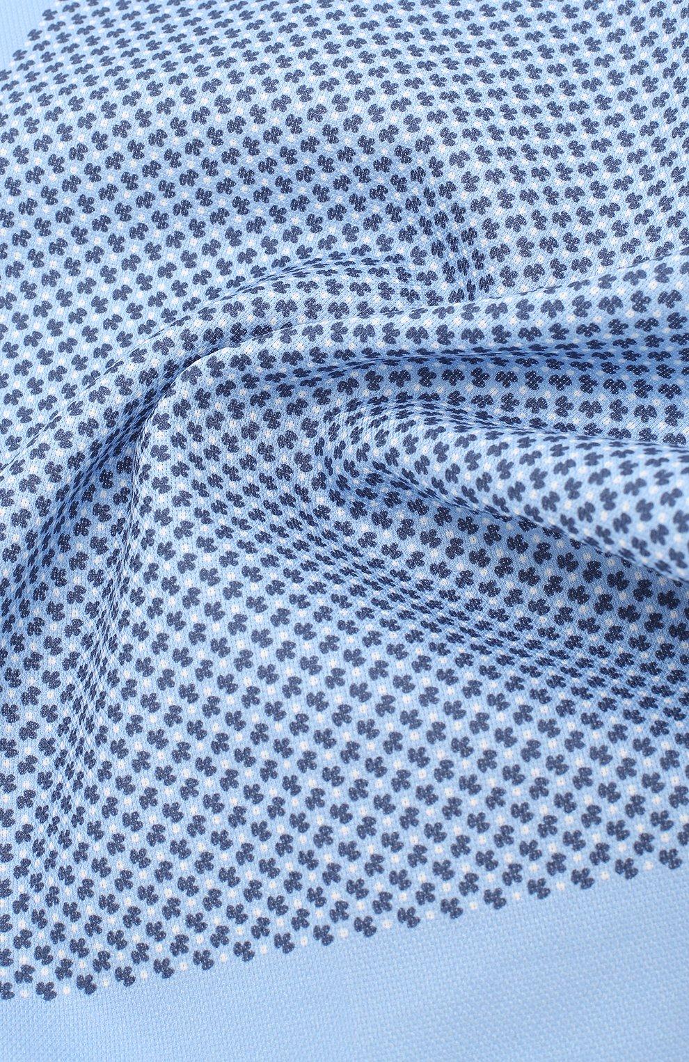 Мужской шелковый платок BOSS голубого цвета, арт. 50406620 | Фото 2